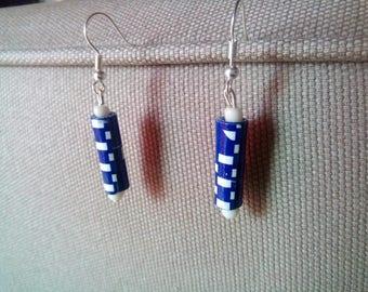 Earrings paper blue #BOP1