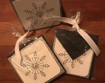 Mini snowflake card set