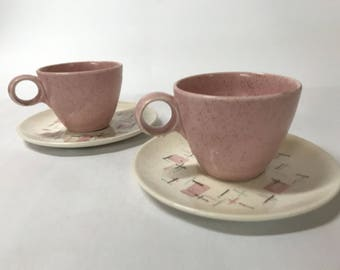 Vernonware cups and saucers