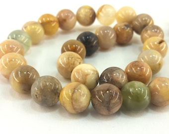 """Natural Yellow Moonstone 12mm round beads approx. 15.5"""" strand or 7"""" strand"""