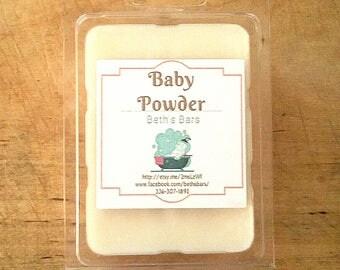 3OZ BABY POWDER MELTS, Baby Powder Soy Wax Melts, Baby Powder Wax Melts, Baby Powder Tarts, Baby Powder Soy Tarts, Baby Powder Soy Melts