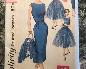Simplicity - Printed Pattern - 2370 - dress, jacket, overskirt