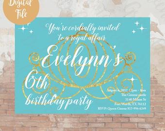 Royal Carriage Birthday Invitation