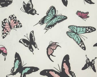 Flying Butterflies Fabric - 44 Inches Wide