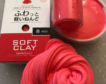 Strawberry Twizzlers Red Butter Slime made with Daiso clay