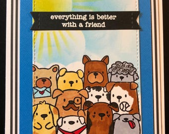 I'm here for you card, Friend Card, Friendship Card, Thinking of you, encouragement card, superhero