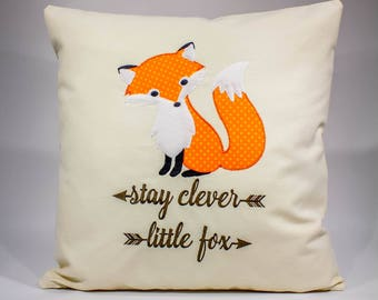 Cute Fox Pillows, Fox Throw Pillows, Woodland Fox Nursery Pillows, Rustic Nursery Decor, Fox Cushions, Rustic Nursery Gifts
