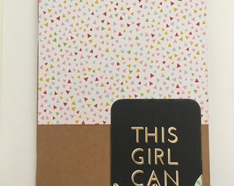 Decorated Notebook - This Girl Can (N02)