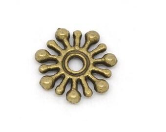 Set of 50 bronze spacer beads (T16)