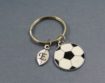 Footballer Keyring - Footballer KeyChain - Footie Ball Keyring - Sporty Key Chain - dad Personalised Keychain - men boy Football Gifts