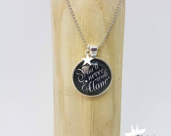Necklace chain you will never go alone, necklace black, chain in black white, gift for her, gift for friend,.