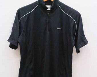 Vintage NIKE Air Small Logo Sportswear Black Tee T Shirt Size L