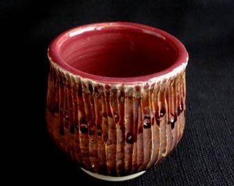 Carved Raspberry Cup