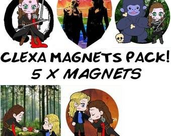 5x Clexa Square Magnets