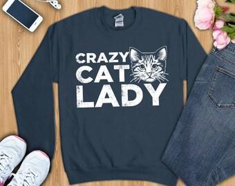 Crazy Cat Lady shirt, crazy cat lady tshirt, crazy cat lady sweatshirt, cat shirt, funny cat shirt, cat lover shirt, cat gift, cat mom shirt