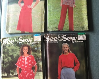 Pick Which One! UNCUT Butterick See & Sew Patterns - Butterick 6067 Butterick 6601 Butterick 5782 Butterick 5779