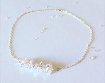 Sparkly Crystal Cluster on Chain Necklace