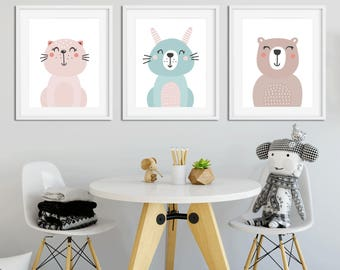 Set of 3 nursery prints, 3 nursery prints, Nursery decorations, Nursery wall art, Prints for nursery, Nursery posters, Nursery decor