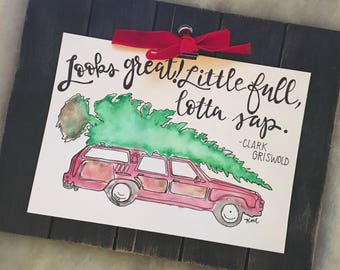 National Lampoon's Christmas Vacation Clark Griswold Watercolor Print