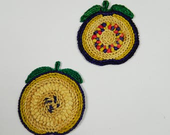 2 Apple shaped dishes