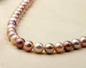 10-11.5mm Round Edison pearl strand,near round  pearl,natural mixed color freshwater loose pearls,Attend the party,mother's day present.