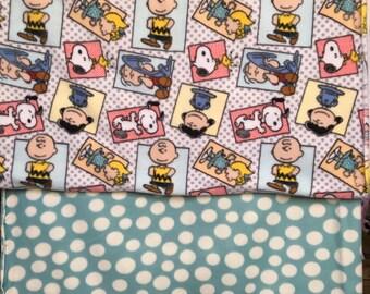 Peanuts Fleece Blanket/ charlie brown / Charles Schultz / Peanuts gang / snoopy  / linus /