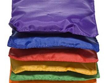 Educational - Dozen 5in Assorted Nylon Bean Bags Toy