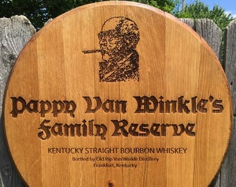 Pappy Van Winkle Barrel Head