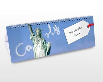 Personalised New York Desk Calendar Gifts Ideas For NY NYC The Big Apple USA United States