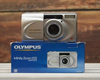Point and shoot Olympus Infinity Zoom 105 35mm film camera - for parts