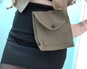 Military Green Utility Belt Pouch