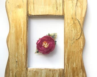 Dusty Rose and Gold Flower Clip