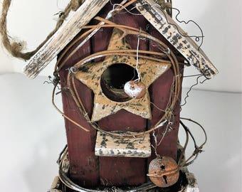 Outdoor birdhouse, Birdhouse for garden, Bird feeder, Birdhouse decor, Wooden birdhouse