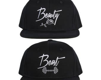 Beauty and Beast Hat Couple Hats His and Hers Couple Caps