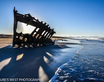Peter Iredale, Shipwreck, Oregon, Landscape Photography, Nature Photography, Fine Art Photography, Wall Art, Home Decor, Gift