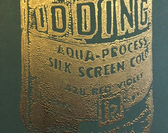 Iddings Relief Print With Gold Dust