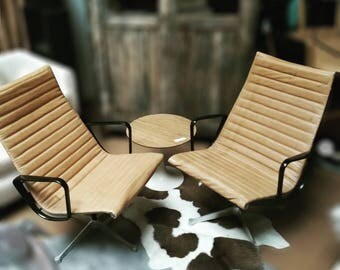 Pair of Vintage Eames for Herman MillerLeather Lounge Chair