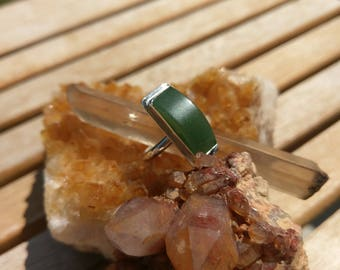 Green Aventurine and Sterling Silver ring
