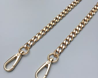 10mm  gold Chain Strap purse strap handles bag hadnbag Purse Replacement Chains Purse Finished Chain straps High Quality