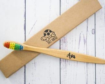 Bamboo toothbrush, Wooden toothbrush, Personalised toothbrush, Biodegradable, Soft Bristles, Eco Friendly, Zero Waste, Kids Toothbrush