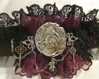 Lolita Dark Fairy & Dragonfly Wrist Cuff/Choker