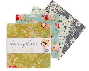"""TILDA """"Memory Lane"""" Charm Pack, 42 pieces (2 of each), 100 % cotton, 12.5cm x 12.5cm"""