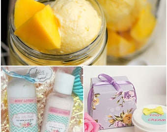 Mango Ice Cream Body Butter Hand Cream Foot Cream Massage Balm Lotion Organic Vegan