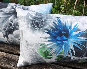 Outdoor Cushion Cover In Designers Guild Fabric Mariedal Outdoor Cobalt  Floral Photo Water Resistant Throw Pillow
