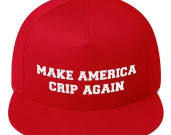 make america crip again hat Flat Bill Cap