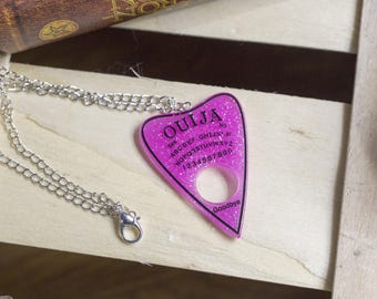"simple ""ouija girl"" pendant necklace - witch - pastelgoth ouija - magic - girly - spiritualism - esoteric"