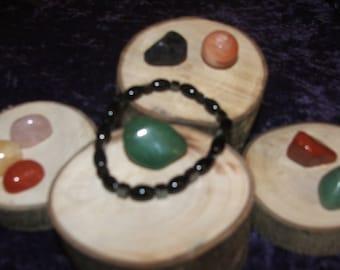 Black Agate & Hematite Gemstone Bracelet