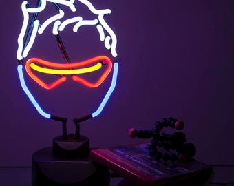 Overwatch Soldier 76 Neon Light - Gaming Decor. Blizzard Fanfare + Videogame gift / geeky gift