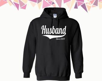 Husband Since Hooded Sweatshirt Customize Your Year Husband Sweater Hoodie Sweatshirt Sweater Hooded Sweatshirt Gift For Husband