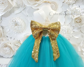 Jade Blue Flower Girl Tutu Dress-Jade Blue Tutu Dress-Jade Blue Tutu-Jade Blue Dress-Jade Blue Girl Tutu-Jade Blue Wedding Dress-Jade Bride.